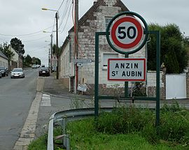 The road into Anzin-Saint-Aubin