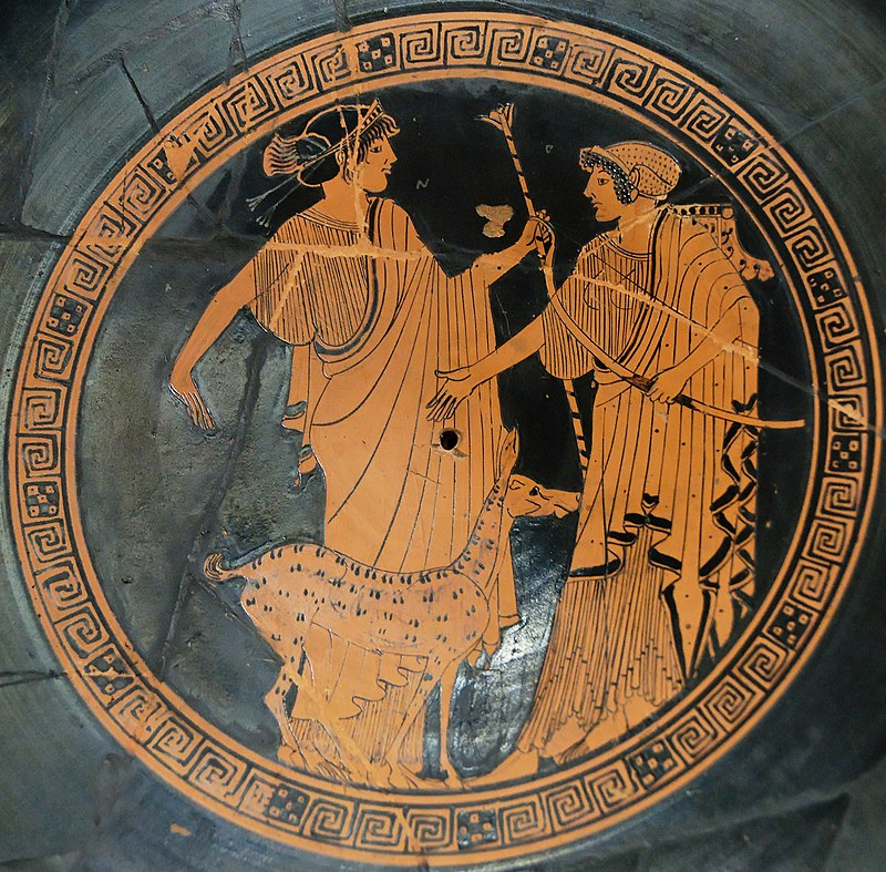 Apollo and Artemis with bow