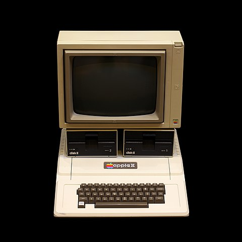 An Apple 2 computer