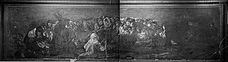 Black Paintings - Photograph of Witches' Sabbath taken in 1874 by J. Laurent inside Quinta del Sordo. Photo-library of the SCHI.