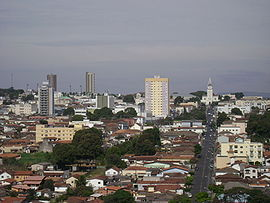 Vista panorâmica do município