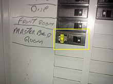 arc fault circuit interrupter wikipedia rh en wikipedia org arc fault circuit interrupter wiring Arc Fault Requirements