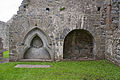 Ardfert Friary Choir North Wall Tomb Niches 2012 09 11.jpg