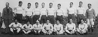 Argentina national rugby union team - The team that played the first test v. the British Lions wearing the light blue and white jersey for the first time on 31 July 1927