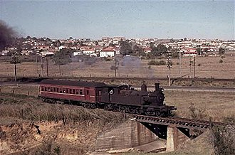 New South Wales C30 class locomotive - Class 30 locomotive on a service to Camden in 1962