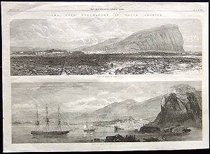 1868 Arica earthquake - Sketches of Arica after the earthquake and tsunami from the Illustrated London News