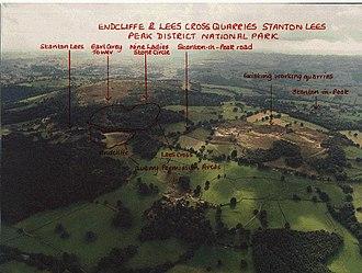 Nine Ladies - Ariel view of Stanton Moor