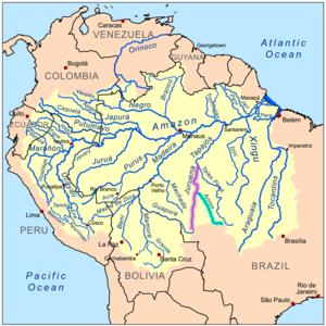 Arinos River - Image: Arinos Juruenarivermap