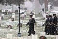 Arlington National Cemetery funeral in snow conditions (12119794696).jpg