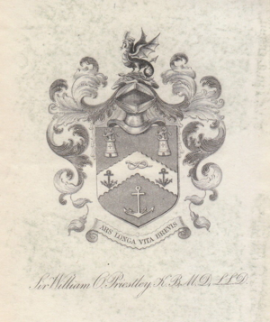 William Overend Priestley - Image: Armorial Bookplate William Overend Priestley