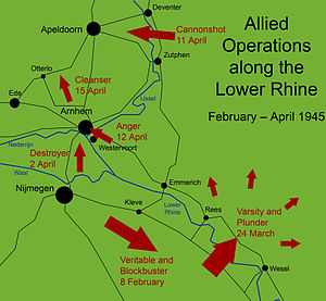 Liberation of Arnhem - Major Allied operations along the Lower Rhine in 1945.