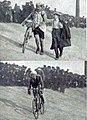 Arrivée du tour des Flandres 1919, en haut premier Henri Van Lerberghe, en bas deuxième Lucien Buysse.jpg
