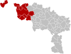 Arrondissement Tournai-Mouscron Belgium Map.png