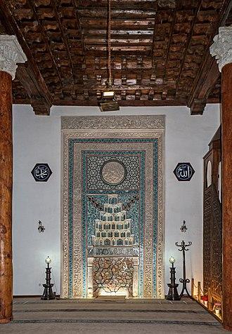 Aslanhane Mosque - Image: Arslanhane Mosque Mihrab 01