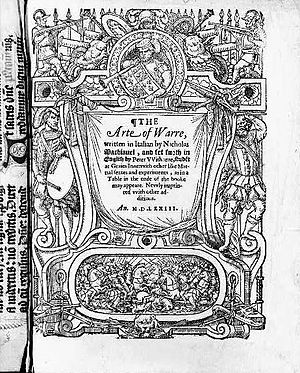 The Art of War (Machiavelli) - Peter Whitehorne's 1573 translation of The Art of War