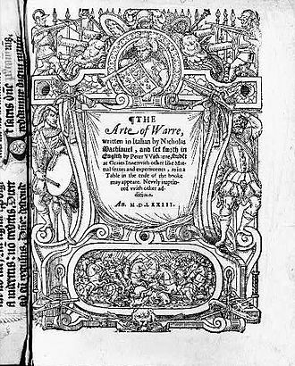 Peter Withorne's 1573 translation of The Art of War Art of War-1573.jpg