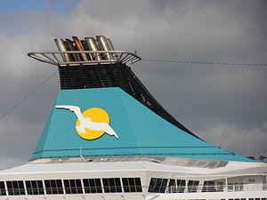 Artania' Funnel 18 May 2012 Port of Tallinn.JPG