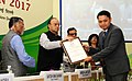 Arun Jaitley gave away the Commendation Certificates to officers of the Income Tax Deptt for their meritorious services, on the occasion of the Income Tax Day Celebration 2017, in New Delhi (1).jpg