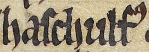 Ascall mac Ragnaill - Image: Ascall mac Ragnaill (British Library Royal MS 13 B VIII, folio 46v)