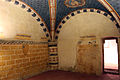 Asciano, museo di palazzo corboli, int., sala delle 4 stagioni con affreschi attr. a Cristoforo di Bindoccio e Meo di Pero, XIV sec. 01.JPG