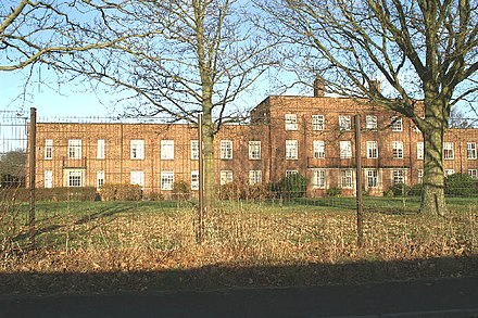 Ashworth Hospital, where Brady was incarcerated from 1985 Ashworth Hospital - geograph.org.uk - 90341.jpg