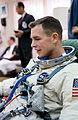 Astronaut David R. Scott, pilot of the Gemini-8 spaceflight, relaxes in the Launch Complex 16.jpg