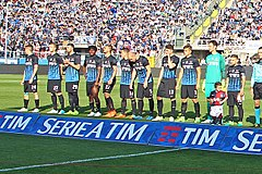 2016–17 Atalanta team at its home stadium