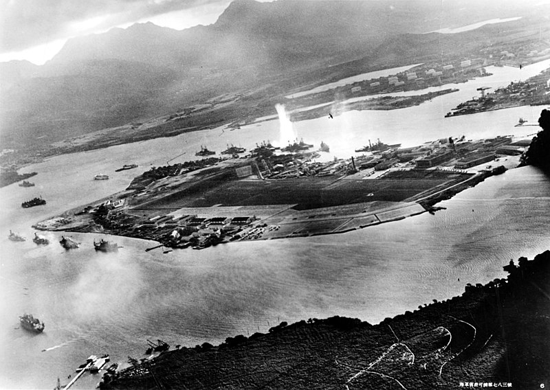 File:Attack on Pearl Harbor Japanese planes view.jpg