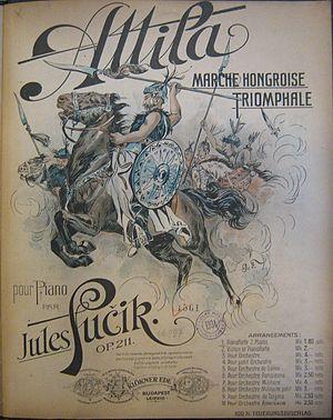 Julius Fučík (composer) - Sheet music for Attila