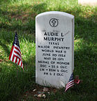 Audie Murphy grave - Arlington National Cemetery - 2011