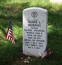 Audie Murphy grave - Arlington National Cemetery - 2011.JPG