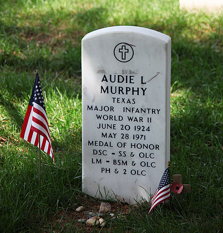 Audie Murphy grave - Arlington National Cemetery - 2011.JPG
