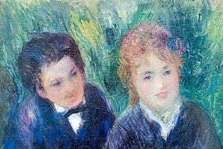 Portrait d'un jeune homme et d'une jeune fille