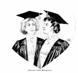 An Anglo-American Alliance - Aurora and Margaret, the novel's heroines, as illustrated by the author.