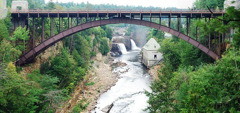 File:Ausable Chasm Bridge - 1.jpg