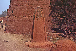 Animism - Animist altar, Bozo village, Mopti, Bandiagara, Mali in 1972