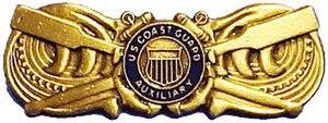 Coxswain Insignia - Auxiliary Coxswain Insignia worn by USCG Auxiliary Coxswains