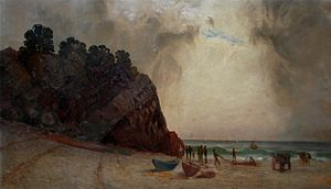 Judson Studios - Oil painting by William Lees Judson of Avalon Beach in late 19th century California, the United States of America.