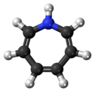 Ball-and-stick model of the Azepine molecule