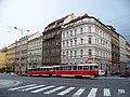 Bělehradská a Koubkova, z Bruselské, tramvaj.jpg