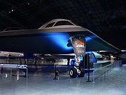 Mock-up of a B-2 Spirit on display at the National Museum of the United States Air Force
