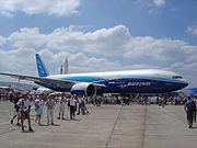 The record-breaking 777-200LR Worldliner, presented at the Paris Air Show 2005