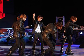 Highlight (band) - Beast performing at the Expo 2012 in Yeosu