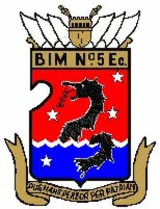 5th Naval Infantry Battalion (Argentina) - BIM 5 insignia