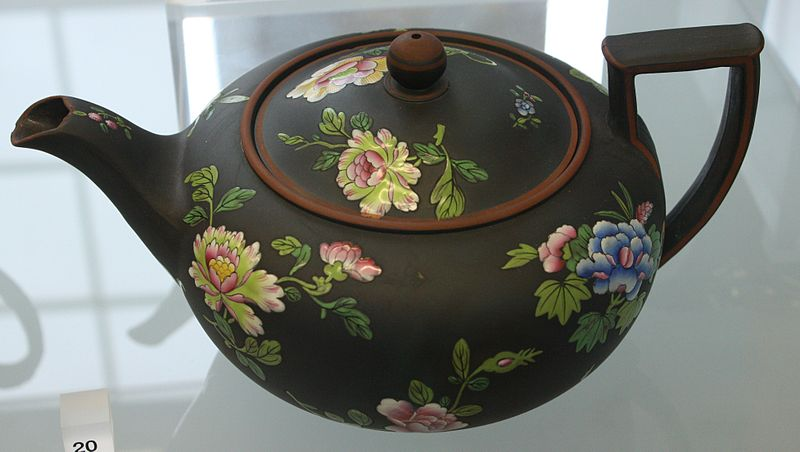 Basalt Flower Pots : File blw teapot with chinese flowers g wikimedia commons