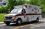 A white ambulance