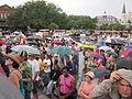 BP Oil Flood Protest NOLA Carriages brollys.JPG