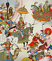 Babur Setting Out with His Army from the book of Le Costume Historique c. 1876.jpg