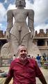 Bahubali Gomateshwara Monolithic statue with Narayan Ramdas Iyer in the foreground.tif