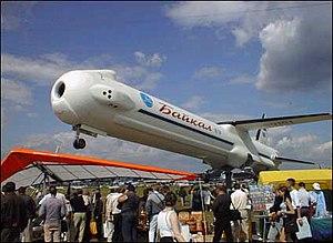Baikal (rocket booster) - Mockup of booster at the Paris Air Show.
